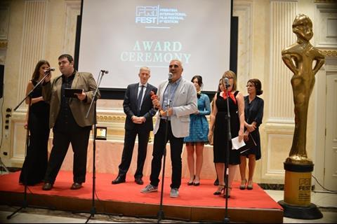 Producer Cedomir Kolar came to pick up the Red Goddess award for the best Balkan film for An Episode In The Life Of An Iron Picker